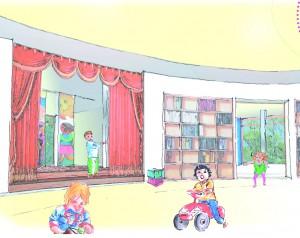 Kindergarten_Theaterflur