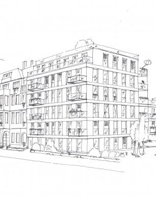 Portfolio skizzenwerkstatt deborah hennig klasinski for Mehrfamilienhaus berlin